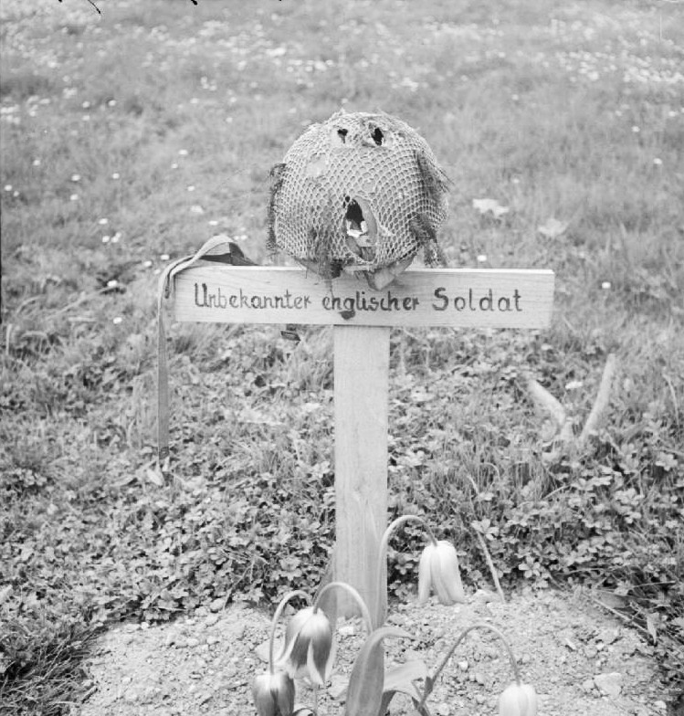 British soldier, buried by the Germans.