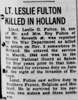 Centralia Evening Sentine 20-11-1944