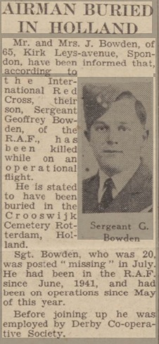 Derby Daily Telegraph 9-11-1943