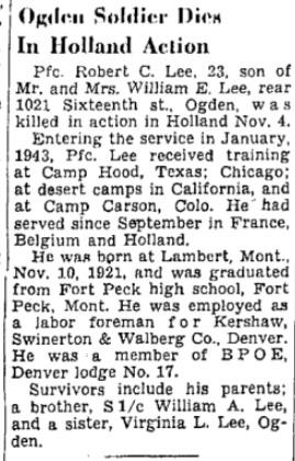 Salt Lake Tribune 26-11-1945