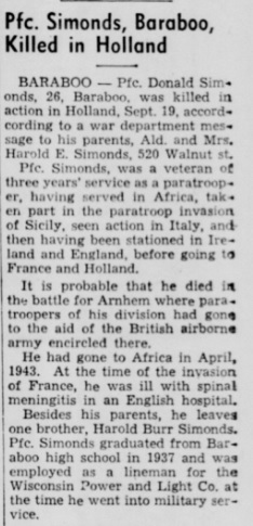 Madison Wisconsin State Journal 26-10-1944