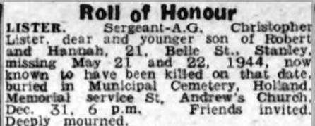 Newcastle Evening Chronicle 29-12-1944
