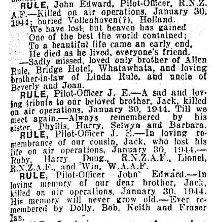 New Zealand Herald 30-1-1945