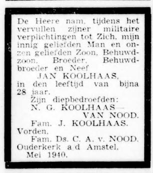 De Standaard 20-5-1940