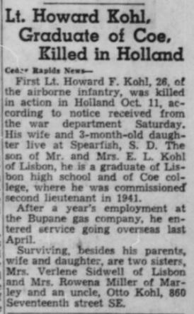 Cedar Rapids Gazette 29-10-1944