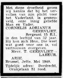 De Standard 23-5-1940
