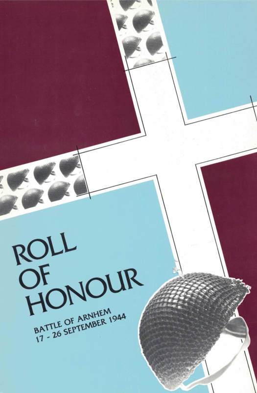 Roll of Honour, Battle of Arnhem, September 1999 (4th Edition) (collection P. Reinders)