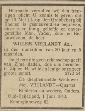 Nieuwsblad voor de Hoekse Waard en Ijsselmonde 4-6-1940