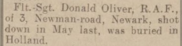 Nottingham Evening Post 22-11-1943