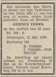 Nieuwsblad van het Noorder 22-5-1940