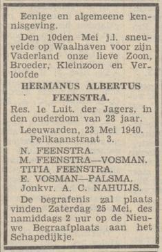 Nieuwsblad van het Noorden 25-5-1940