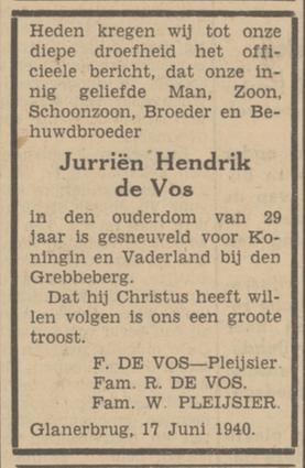 Twentsch Dagblad Tubantia 19-6-1940