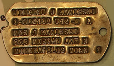 Type 2 Dog tag (stolen from the NA in 2018)