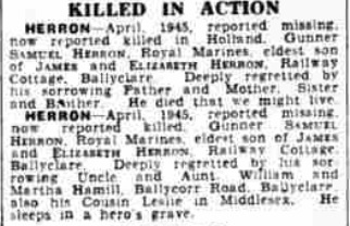 The Belfast Telegraph 18-5-1945