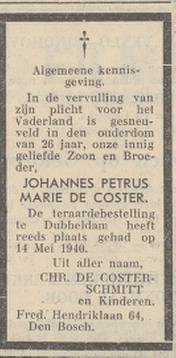 Noordbrabantsch Dagblad 24-5-1940