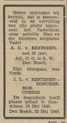 Provinciale Noordbrabantsche Courant 22-5-1940