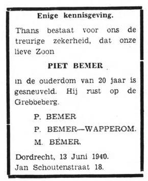 Het Volk Dagblad voor de Arbeiderspartij 13-6-1940