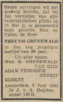 De courant 6-6-1940