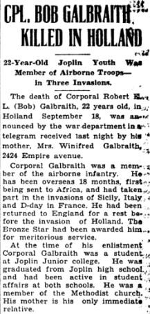 Joblin Globe 10-10-1944