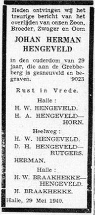 De Graafschap Bode 29-5-1940