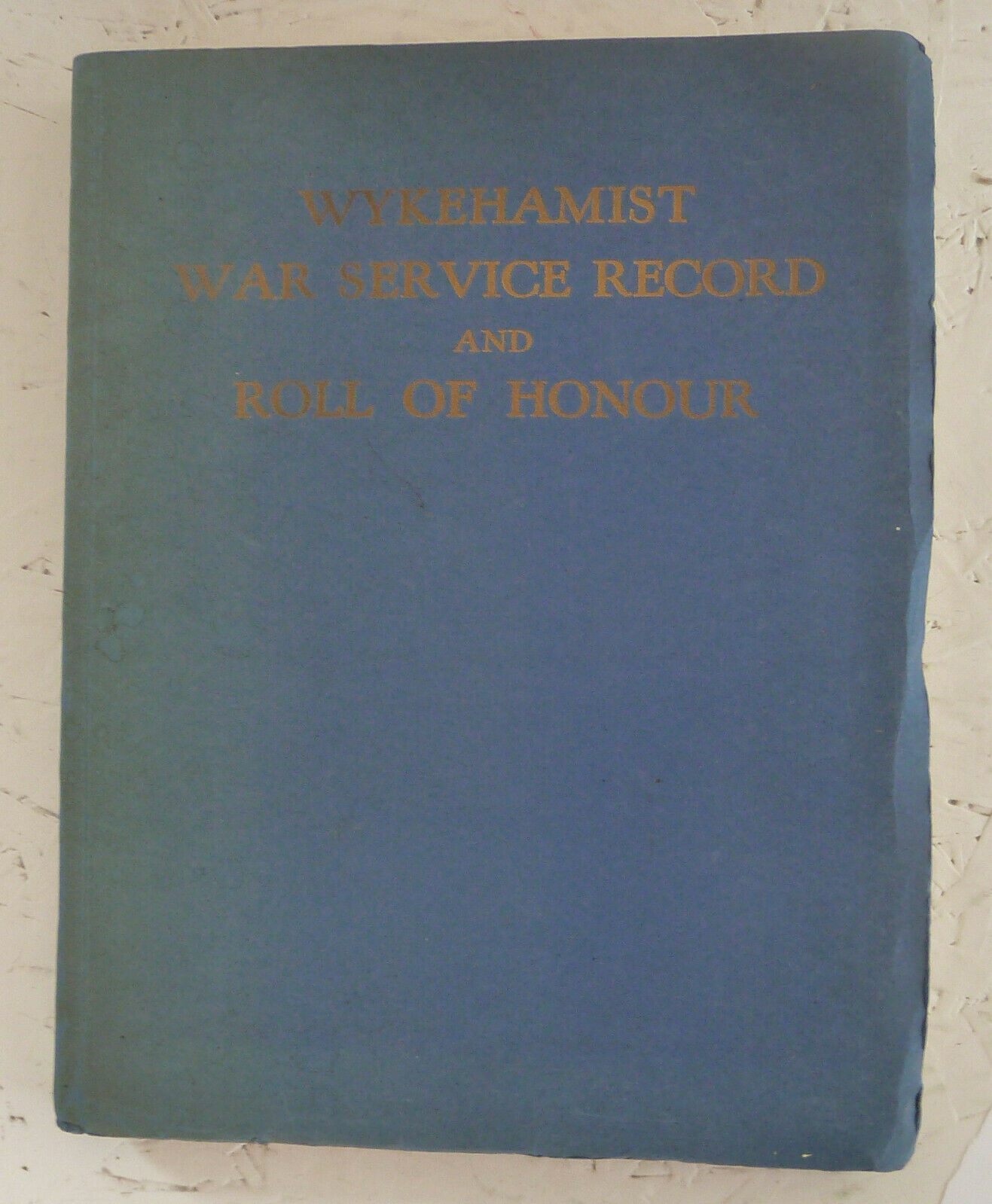 Roll of Honour, Wincester College, 1947 including Arnhem casualties (collection P. Reinders)