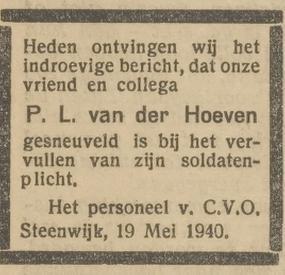 Opregte Steenwijker Courant 21-5-1940