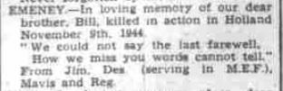Royal Leamington Spa 9-11-1945