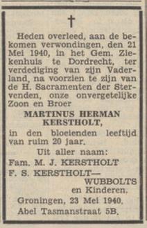 Nieuwsblad van het Noorden 23-5-1940