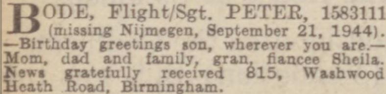 Birmingham Mail 12-10-1945