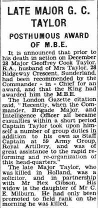 Sunderland Echo 22-8-1945