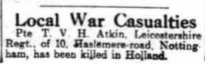 The nottingham Evening Post 22-5-1945