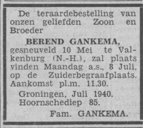 Nieuwsblad van het Noorden 6-7-1940