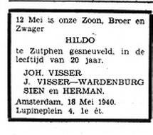 Het Volk Dagblad voor de Arbeiderspartij 18-5-1940
