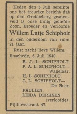 Twentsch Dagblad Tubantia 6-7-1940