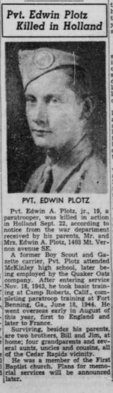 Cedar Rapids Gazette 9-10-1944