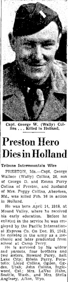 Salt Lake Tribune, Thursday 1-3-1945