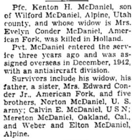 Salt Lake Tribune 2-5-1945