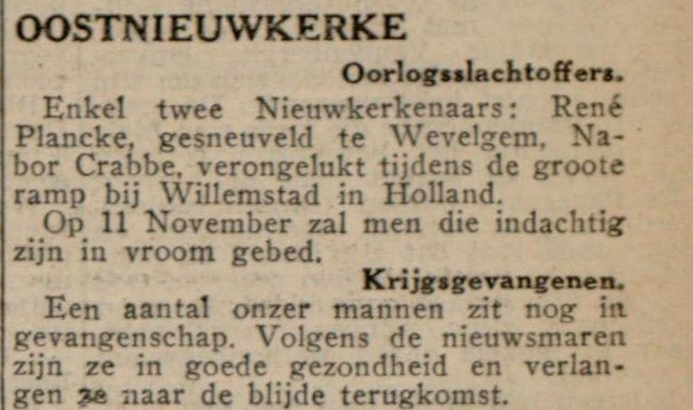 De Poperinghenaar 10-11-1940