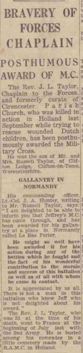 Glouchestershire Echo 19-3-1945