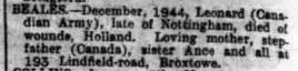 nottingham evening post 6-1-1945