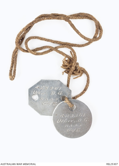 Metal RAAF tags, were issued from the start of WOII they never used the fibre discs (awm,gov.au)