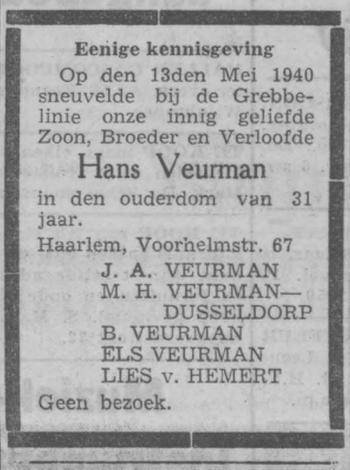 Haarlems Dagblad 24-5-1940
