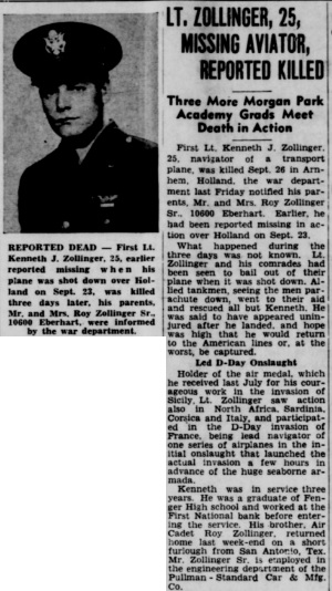 Chicago South end Reporter 29-11-1944