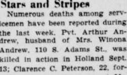 Burlington Hawk Eye Gazette 14-10-1944