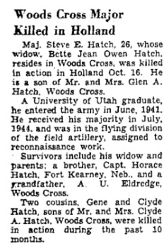 Salt Lake Tribune 30-10-1944