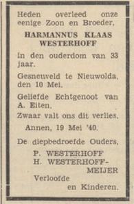 Agrarisch Nieuwsblad 21-5-1940