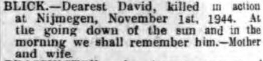 Nottingham Evening Post 1-11-1945