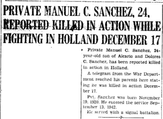 Del Rio News  Herald 31-12-1944
