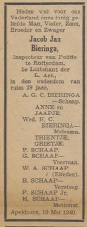 Nieuwe Apeldoornsche Courant 20-5-1940