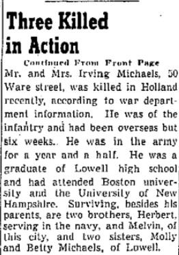 Lowell Sun 13-11-1944